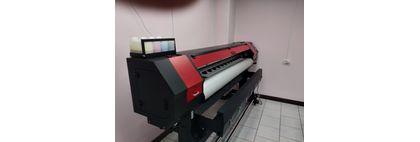 Запуск интерьерного принтера OPTIMUS 1600 на DX5 голове в городе Байконур (Казахстан)